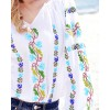 TRADITIONAL HANDMADE BLOUSE - Gentian Flower Motif