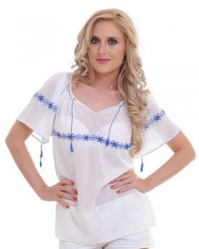 ETHNIC HANDMADE TOP - Snow Flower Motif