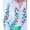 TRADITIONAL HANDMADE BLOUSE - Spring Flowers Motif