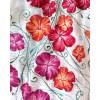 BLOUSE PAINTE À LA MAIN - Fleurs d'Hibiscus
