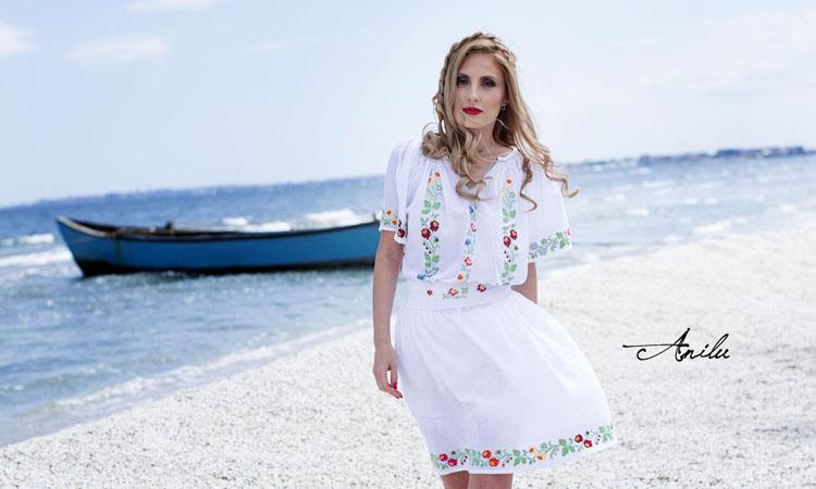 Rochie traditionala Anilu Flori salbatice