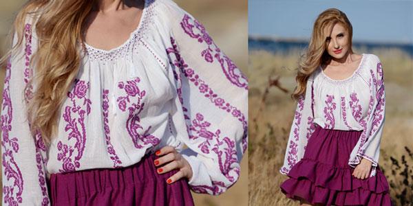 Ie romaneasca Trandafir Mov culoare Anilu