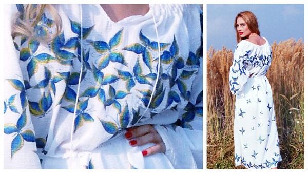 rochie-romaneasca-pictata-manual-anilu-fluturi-smarald
